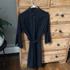 Banana republic- black bottom down tie dress